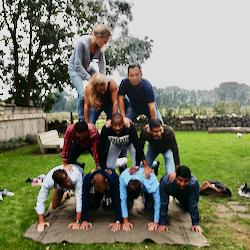 Acrobatische teambuilding